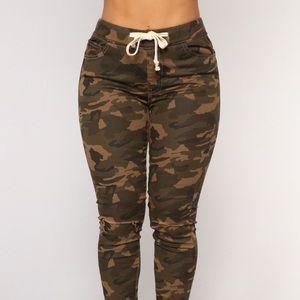 Fashion Nova First Cadet Camo Pants - Small